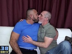 Big muscular bears with dicks railing hard at home