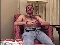 Old gay auntie pleasing himself