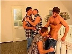 Awesome spunk shower anal whacking nasty orgy adventure