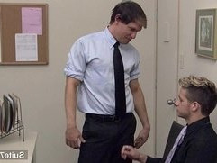 Sexy gays fuck in the office