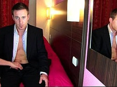 Marc a real banker get wanked his huge cock in spite of him!