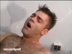 Hairy beefy guy gets cock up his ass