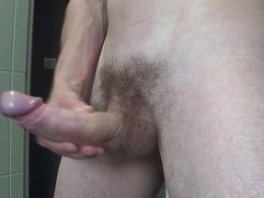 Huge cumshot after jerking off