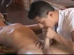 Sstrokes hottie gets black cock serviced and cum swallowed