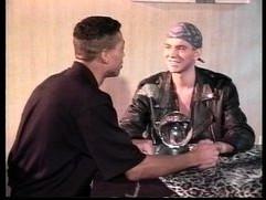 VCA Gay Black Leather White Studs scene