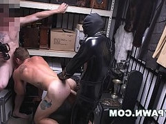 GAY PAWN We Paid Our New Employee To Fuck A Gimp In The Backroom